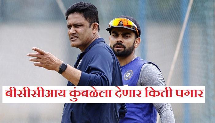 भारताचा क्रिकेट कोच अनिल कुंबळे याचा पगार किती ?