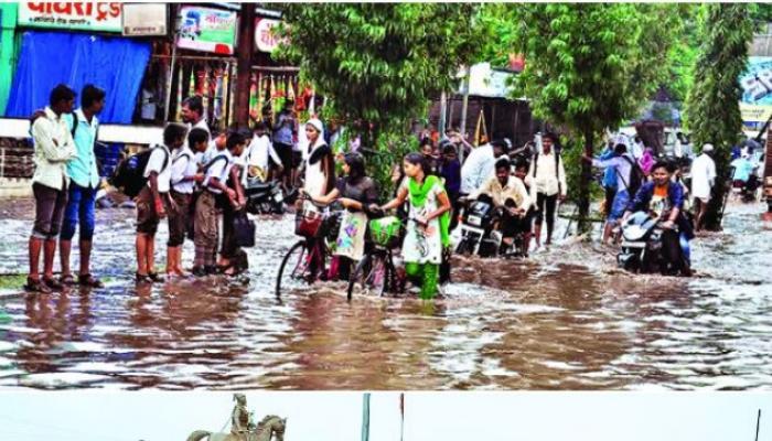 दुष्काळग्रस्त लातूर जिल्ह्यात प्रदीर्घ विश्रांतीनंतर दमदार पाऊस