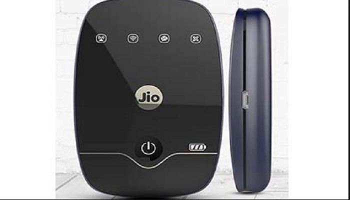 रिलायन्स जिओने लाँच केला JioFi 4G Hotspot