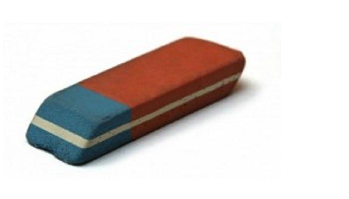 रबराचा निळा भाग पेनाची शाई खोडण्यासाठी नव्हे तर...