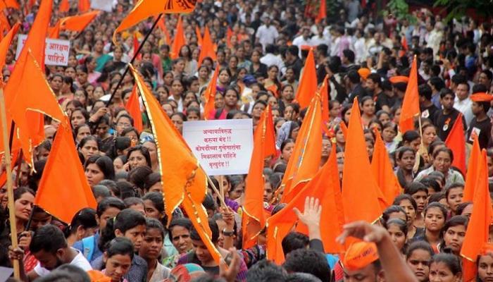 नवी मुंबई, सोलापुरात मराठा समाजाचा भव्य मोर्चा
