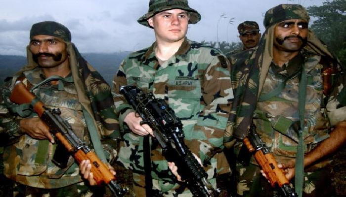 अमेरिका आणि भारताचे सैनिक दहशतवादाविरुद्ध आले एकत्र