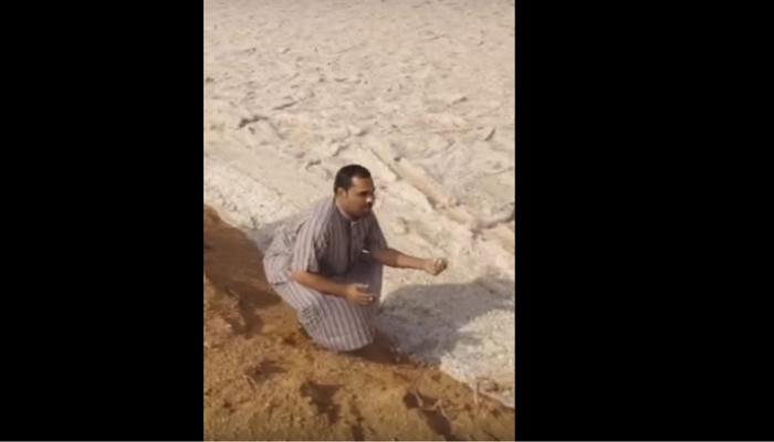 VIDEO : ही वाळूची नदी नाही तर...