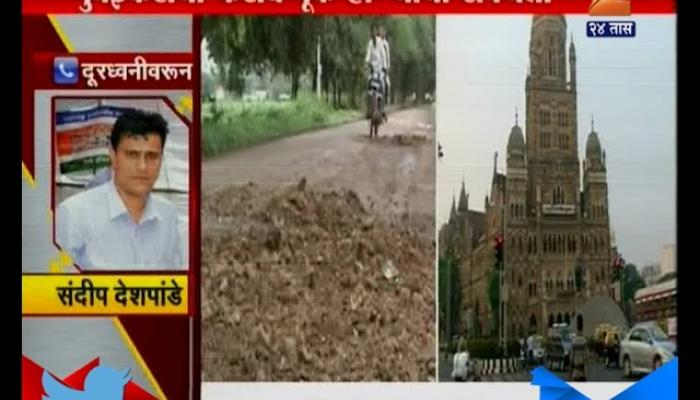 Mumbai | Mns | Sandip Deshpande On Black Listed Contractor To Complete Road Project