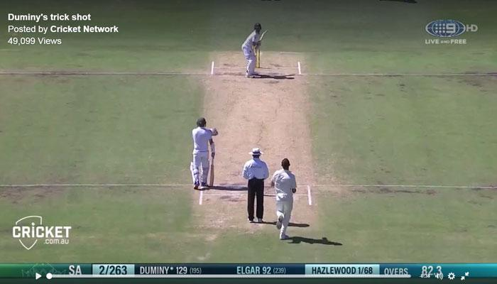 दक्षिण आफ्रिकेच्या ड्यूमनीचा क्रिकेटमध्ये नवा शॉट