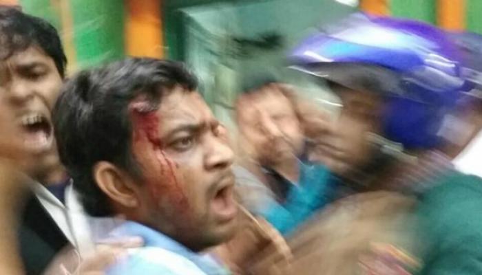 भाजपच्या कार्यालयावर तृणमूलच्या कार्यकर्त्यांचा हल्ला