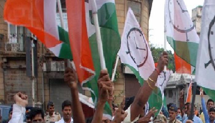 राष्ट्रवादीचं बँक ऑफ इंडिया समोर म्हशी बांधून आंदोलन