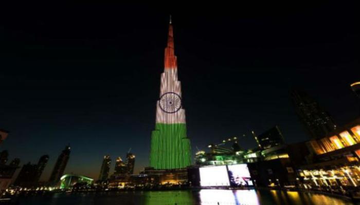दुबईचा बुर्ज खलिफा तिरंग्यानं उजळला