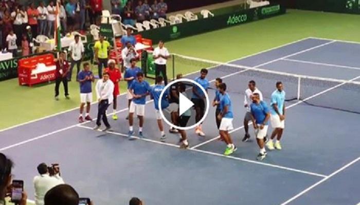 डेव्हिस कपमध्ये न्यूझीलंडवरील विजयानंतर टीम इंडियाचा झिंगाट डान्स