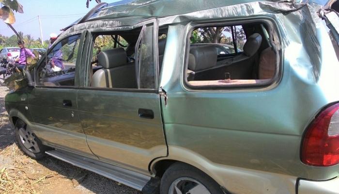 कृषि राज्यमंत्री सदाभाऊ खोत यांच्या सुनबाई अपघातात जखमी