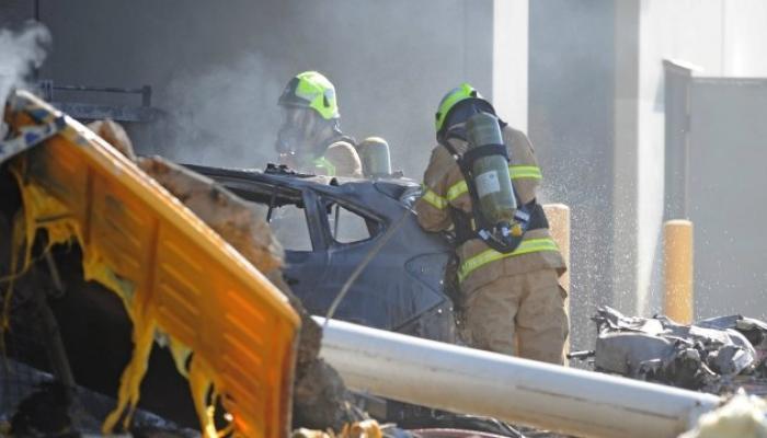 शॉपिंग सेंटरवर विमान कोसळल्याने ५ जणांचा मृत्यू
