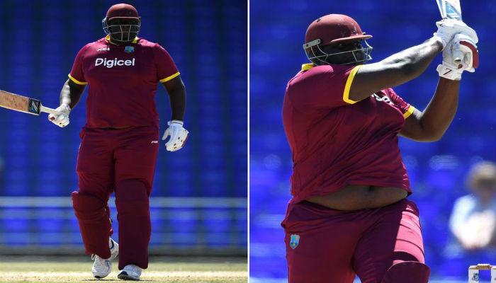 वेस्ट इंडिजचा 'वजनदार' खेळाडू, वजन तब्बल १४० किलो