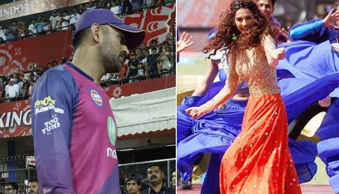 IPL 10 : जेव्हा धोनीसमोर केला त्याच्या 'पहिल्या प्रेयसी'ने डान्स
