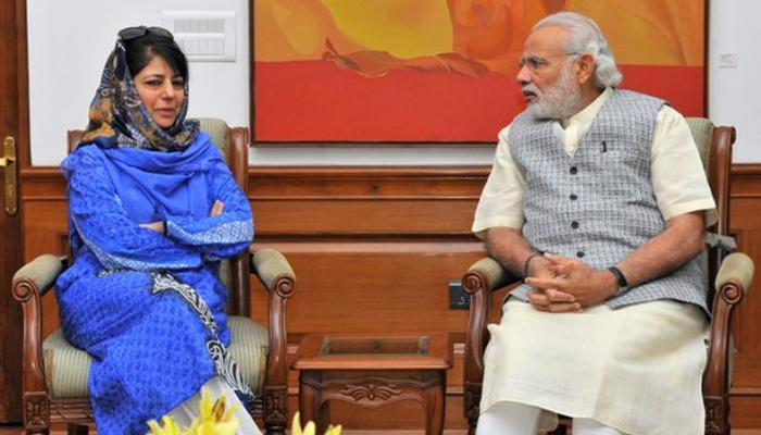 मुख्यमंत्री महबूबा मुफ्ती घेणार पंतप्रधान मोदींची भेट