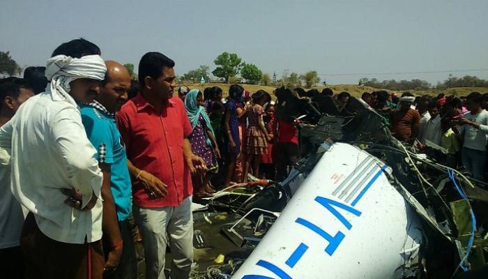 बिरसी गावाजवळ विमान कोसळलं, २ ठार