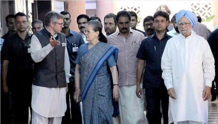 सोनिया गांधी यांनी दिलेल्या मेजवानीला १७ पक्षांचे नेते उपस्थित
