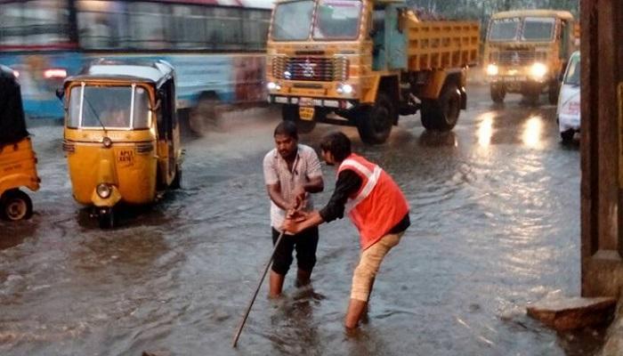 हैदराबादला मान्सूनपूर्व पावसाचा तडाखा