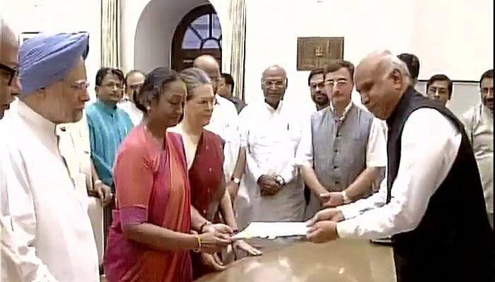 मीरा कुमार यांनी भरला राष्ट्रपतीपदासाठी अर्ज