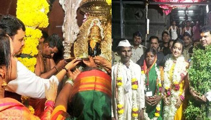 श्री विठ्ठल रखुमाईची मुख्यमंत्री फडणवीस यांनी सपत्नीक केली महापूजा