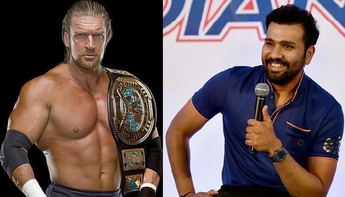 WWE रेसलर ट्रिपल एचनं दिलं रोहित शर्माला खास गिफ्ट