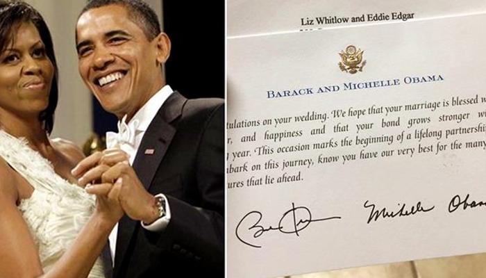 ओबामा दाम्पत्यांचे 'हे' पत्र सोशल मीडियावर व्हायरल