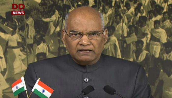 राष्ट्रपती म्हणून रामनाथ कोविंद यांचा पहिला स्वातंत्र्य दिन