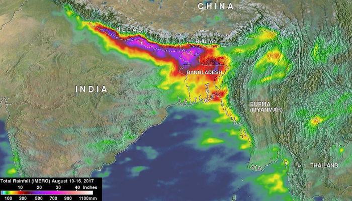 नासाने दिली भारतातील प्राणघातक पावसाची माहिती...