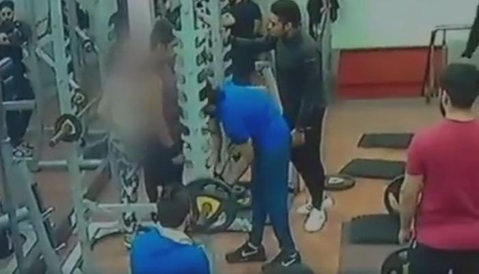VIDEO: जिममध्ये तरुणाचा तरुणीवर हल्ला