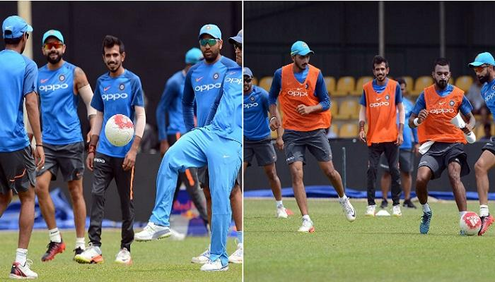 श्रीलंकेविरुद्धच्या वनडेपूर्वी कोहली- धोनी आमनेसामने