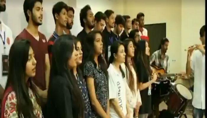 पाकिस्तानी विद्यार्थ्यांनी गायले 'जन गण मन'