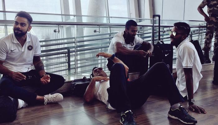 कांगारूंना लोळवल्यावर धोनीनं एअरपोर्टच्या जमिनीवरच झोपला