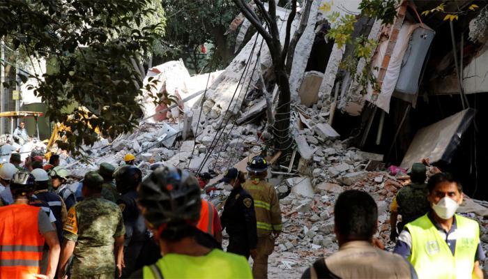 मेक्सिकोमध्ये ७.१ रिश्टर स्केल तीव्रतेचा भूकंप,१३८ जणांचा मृत्यू