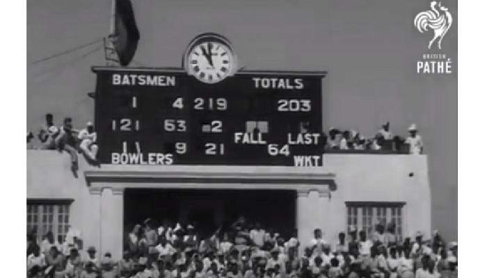 देशातल्या पहिल्या टेस्ट क्रिकेट सामन्याचा व्हिडीओ
