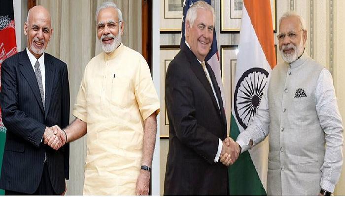 भारत दौऱ्यावर अफगाणिस्तानचे राष्ट्राध्यक्ष आणि अमेरिकेचे स्टेट सेक्रेटरी
