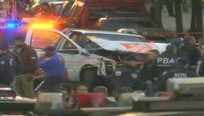 अमेरिकेत दहशतवादी हल्ला, ट्रकने ८ लोकांना चिरडले