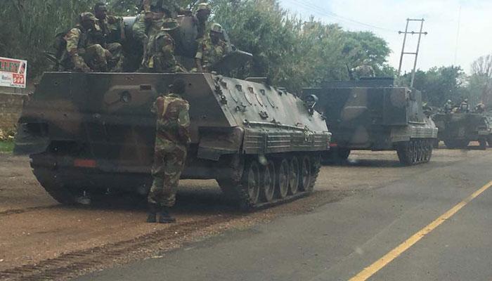 झिम्बाब्वेमध्ये तणाव, रस्त्यावर उतरले लष्कराचे टँक