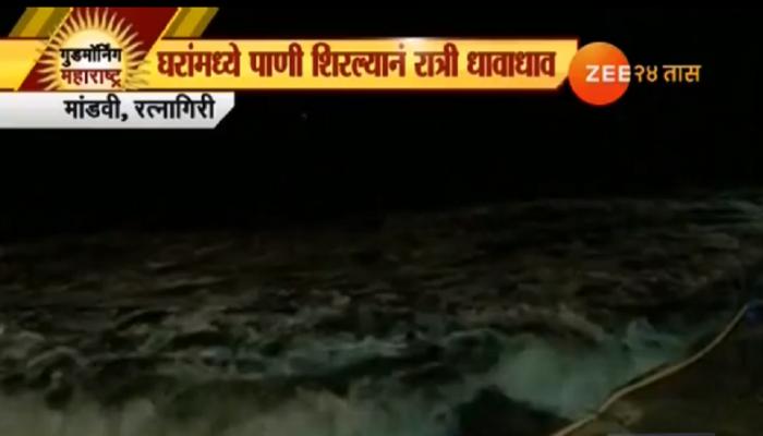 ओखी चक्रीवादळाचा सिंधुदुर्गात फटका, समुद्रा शेजारील घरांमध्ये पाणी