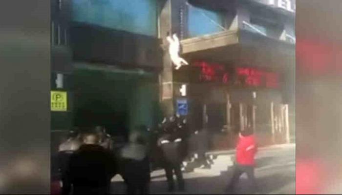 नवव्या मजल्यावरून पडलेली 'ही' महिला दोनदा बचावली!