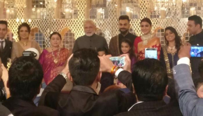 'विरुष्का'च्या रिसेप्शनला पंतप्रधानांची उपस्थिती
