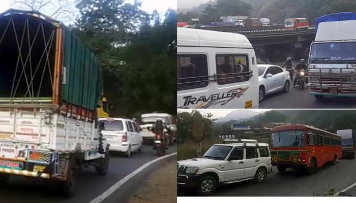 मुंबई - गोवा महामार्गावर कोंडी, दुसऱ्या दिवशीही वाहनांच्या रांगा