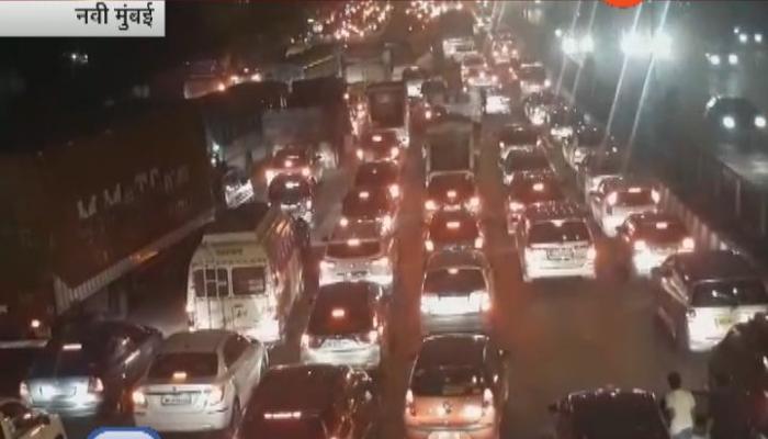 मुंबई एन्ट्री पॉईंटवर प्रचंड वाहतूक कोंडी