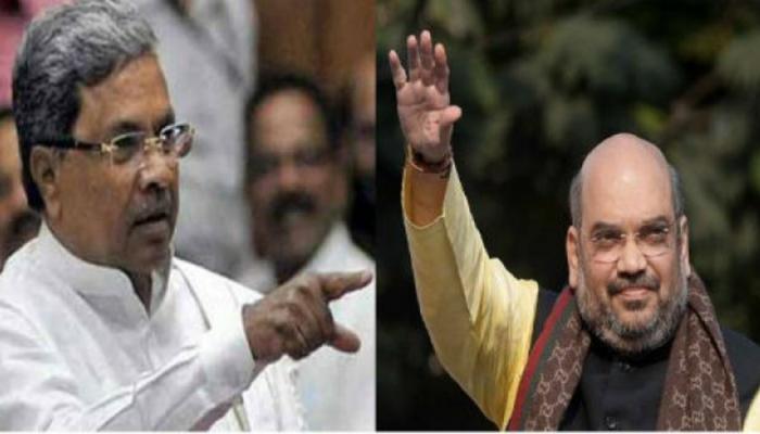 कर्नाटक : हिंदू विरोधी विरूद्ध कट्टर; सिद्दरमय्या, अमित शहा यांच्या शाब्दीक युद्ध