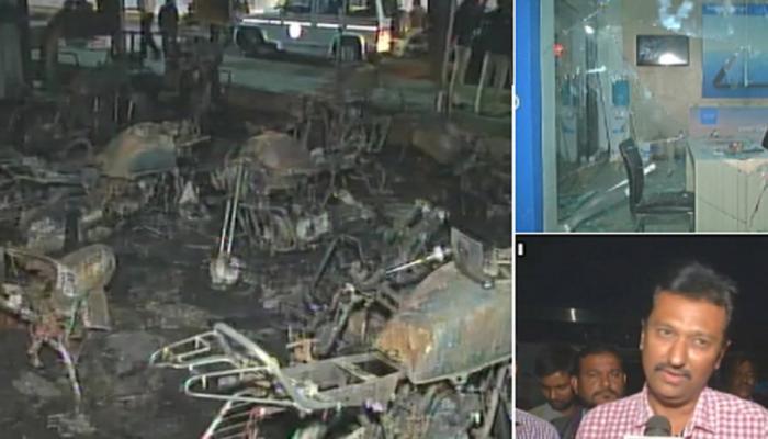 'पद्मावत' वाद : अहमदाबादमध्ये मॉलमध्ये तोडफोड, दुकानात आग