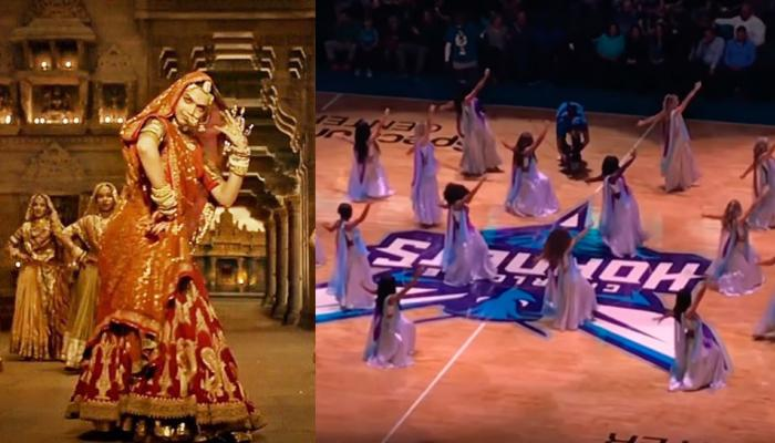 अमेरिकेतील बास्केटबॉल सामन्यात चीअर लीडर्सचे 'घुमर' नृत्य...