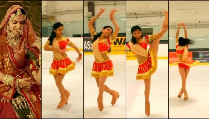 शानदार नृत्याचा अविष्कार; घूमर गाण्यावर तरूणीचा ठेका