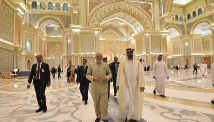 अबूधाबीमध्ये राजमहलात आमंत्रित केले जाणारे मोदी पहिले परदेशी नेते