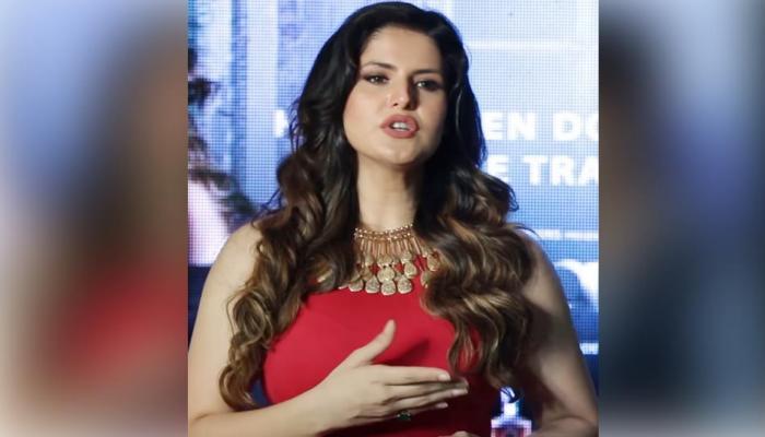 """VIDEO: ट्रोलरवर अभिनेत्री झरीन खान संतापली आणि म्हणाली, """"कानशिलात मारु का...."""""""