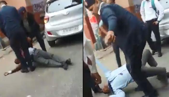 VIDEO : ट्राफिक पोलिसांची तरुणाला मारहाण, व्हिडिओ वायरल