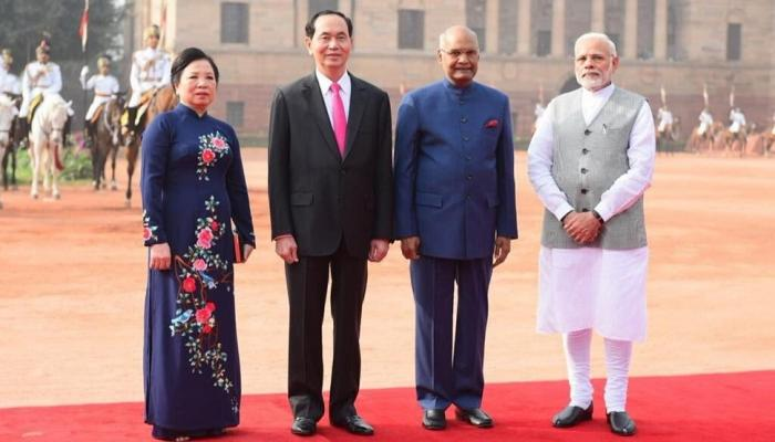पंतप्रधानांनी केलं व्हिएतनामच्या अध्यक्षांचं स्वागत