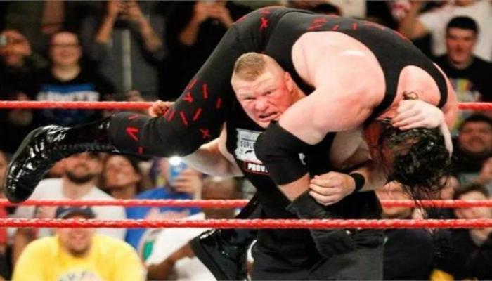WWE: ब्रॉक लेस्नरने अवघ्या ३५ सेकंदात केनला केले पराभूत (व्हिडिओ)